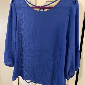 Blue LC Lauren Conrad blouse
